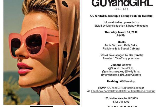 GUYandGIRL Boutique Spring Fashion Tweetup