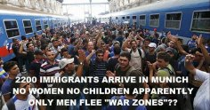 2200 Immigrants arrive in Munich