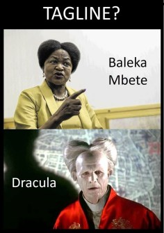 Baleka Mbete vs Dracula