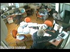 Woman Falls Through Office Door CCTV Fail!