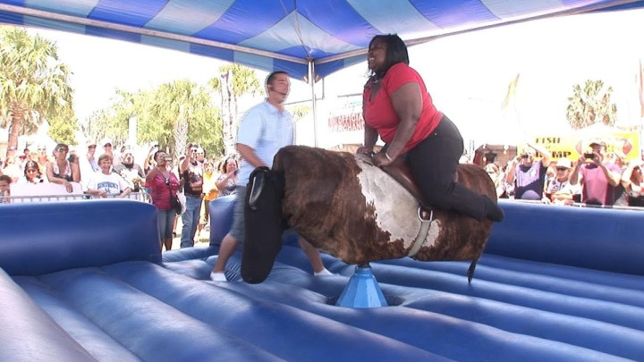 Mechanical Bull Riding Fail