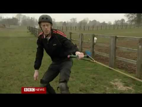 BBC News   'Horse boarding'  Extreme sport in the countryside
