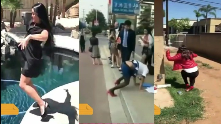funny girl heels fail – high heel compilation -(part  4) try not to laugh