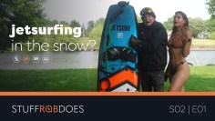MAKING AN EXTREME SPORT EVEN MORE EXTREME | An unusual winter water sport!