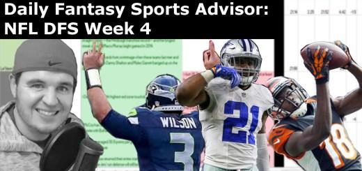 Daily Fantasy Sports Advisor NFL DFS Week 4