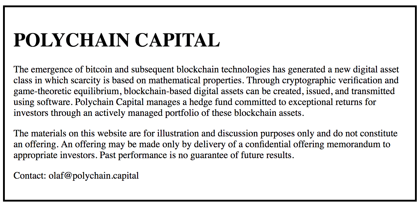 Polychain Capital: A hedge fund investing at the Protocol layer of