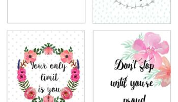 More Motivational Quotes Printable Stickers For You To Download For