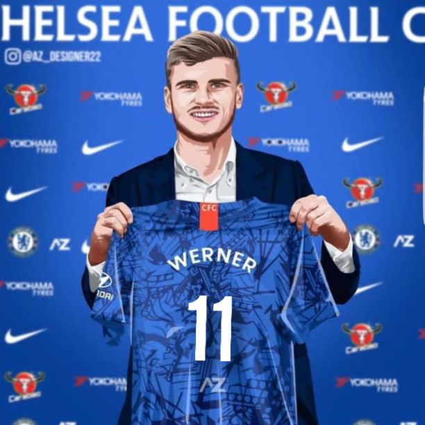 Chelsea welcome Timo Werner with legend jersey number - Daily ...