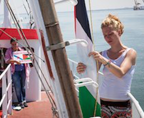 Womens Gaza flotilla Daily Freier