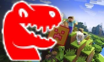 Minecraft-Spieler zaubert einen T-Rex mit Gratis-Software