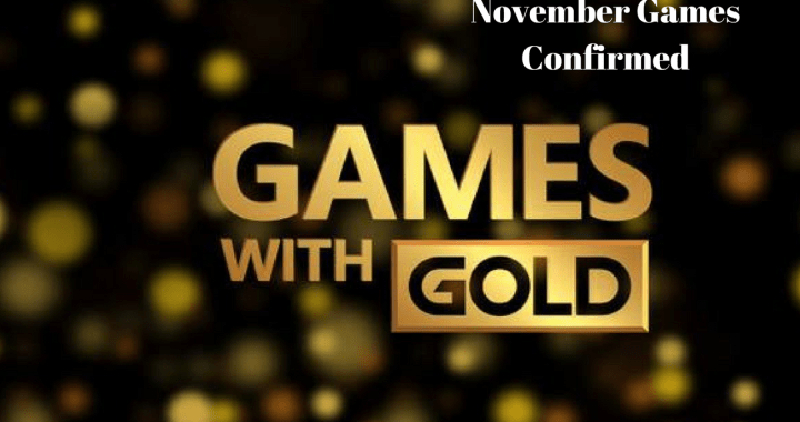 Microsoft Games With Gold For November