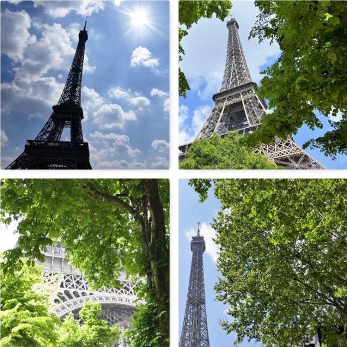 Green Eiffel Tower