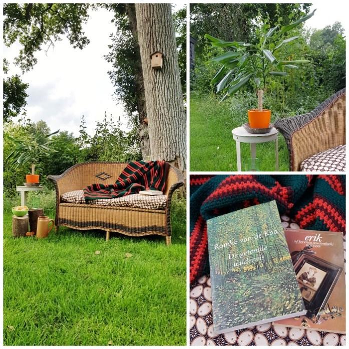 op vakantie in eigen tuin  - lezen