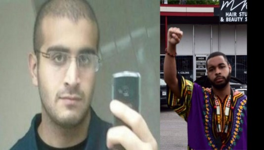 Orlando nightclub shooter, Omar Mateen, and Dallas Police Shooter, Micah X. Johnson