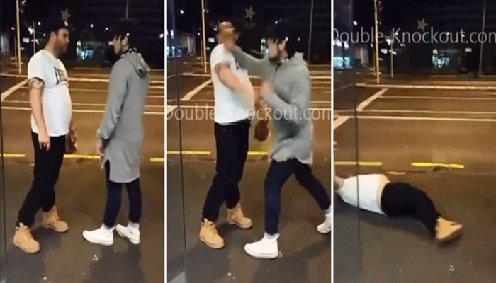 BIG Bully Picks On The Wrong Skinny Guy, Pays a Painful Price [VIDEO]