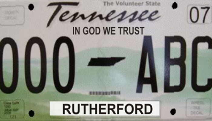 "New Tennessee Legislation Would Put ""IN GOD WE TRUST"" On Every License Plate"