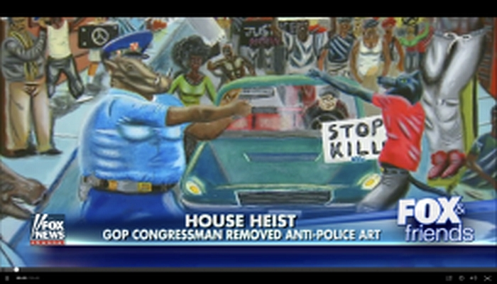 "Liberals Want Criminal Charges For Congressman Who Removed ""Anti-Police"" Pig Painting"