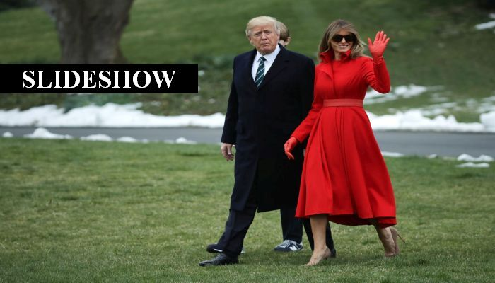 First Lady Melania Trump's Outfit Yesterday Would Make A Fashion Critic's Eyes Pop