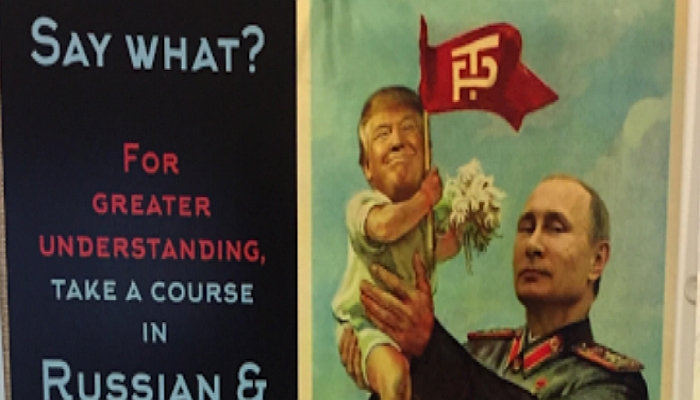 University Advertises Classes With Trump-Baby, Putin-Daddy Posters
