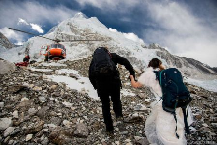 Couple's Mount Everest Wedding - Photo Credit- Fox21News