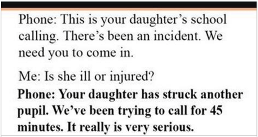 School Calls Mother After Daughter Hits A Student, But Mother's Response Leaves Them Speechless