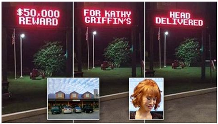"""Tennessee Store Offers $50,000 For Kathy Griffin's Head """"Delivered"""" [PHOTOS]"""