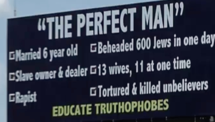 Indiana Muslims Angered By Accurate List of Muhammad's Deeds On Billboard