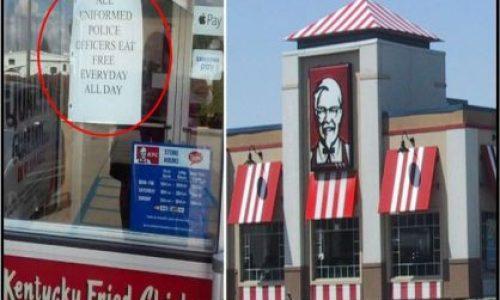 KFC Sign On The Front Door (Left)