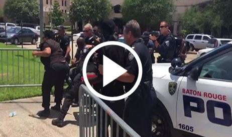 Protesters Break Through Police Barricade, Get Served Up A Taser Deployments