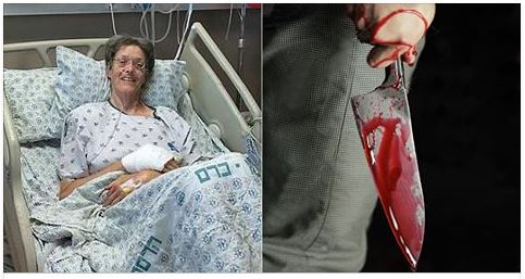 Muslim Stabs Woman, She Says One Word That Makes Him Drop The Knife [PHOTOS]
