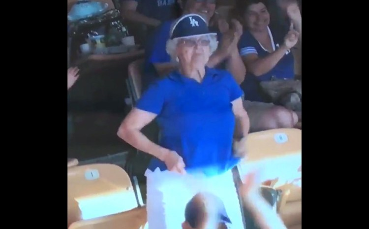 Grandma Had An Unexpected Surprise For Fellow Fans At This Dodger Game [VIDEO]
