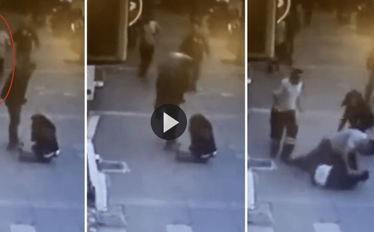 Man Violently Beats Wife In The Middle Of The Day: Moments Later, Karma HITS Back