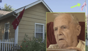 Blind WWII Veteran Attacked While Trying To Protect American Flag