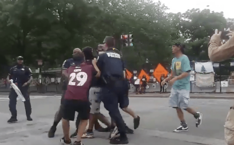 BREAKING: Black Lives Matter Agitator Punches Black Trump Supporter In The Face…Is Immediately…..