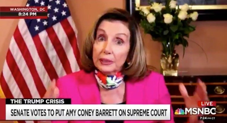 Pelosi Responds to Amy Coney Barrett SCOTUS Confirmation: 'Should We Expand the Court?' [VIDEO]