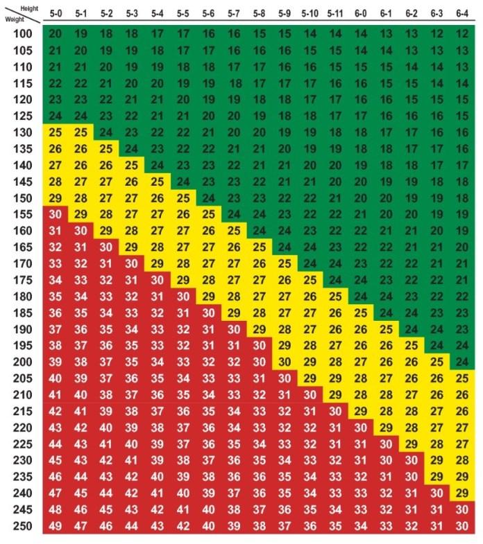 BMI Check-bmi chart