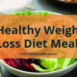 Healthy weight loss diet three meals a day