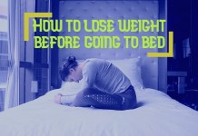 How to lose weight before going to bed