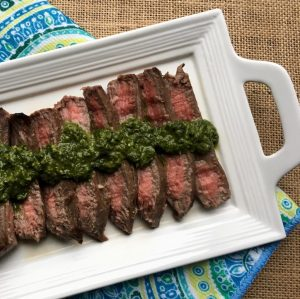 grilled-flank-steak-with-chimichurri-sauce