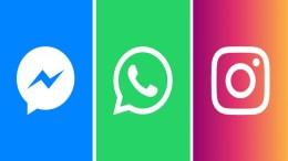Messenger, Whatsapp, Instagram