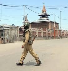 جامع مسجد کے ارد گرد فورسز کی تعیناتی منصوبہ بند پروگرام: انجمن اوقاف جامع مسجد سرینگر