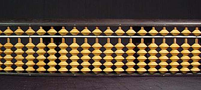 Chinese abacus 2 - Picture courtesy ebay.com