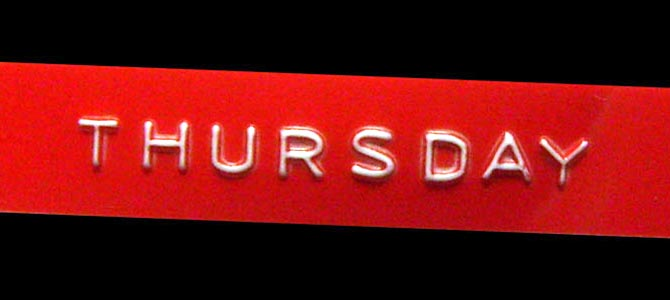 Thursday - Picture courtesy happyhealthylonglife.com