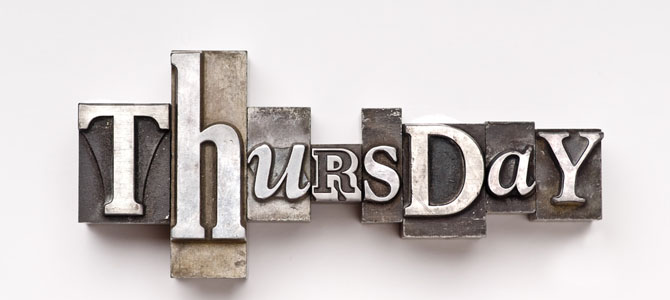 Thursday - Picture courtesy helpingyouharmonise.com