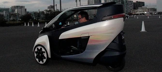 Toyota i-ROAD - Picture courtesy Bertel Schmitt