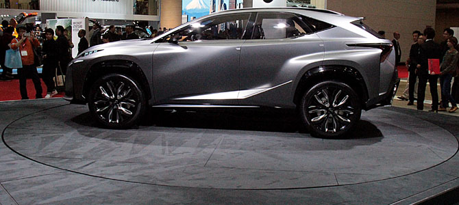 Lexus LF-NX concept - Picture courtesy Bertel Schmitt