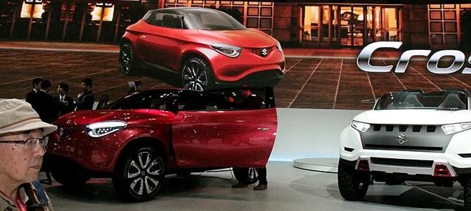 Suzuki Crosshiker X-Lander concepts - Picture courtesy Bertel Schmitt