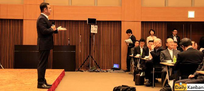 Carlos Ghosn  Japan Chamber of Commerce -29- Picture courtesy Bertel Schmitt