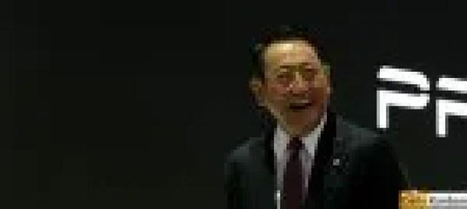 Akio Toyoda TMS 2015 2 - picture courtesy Bertel Schmitt