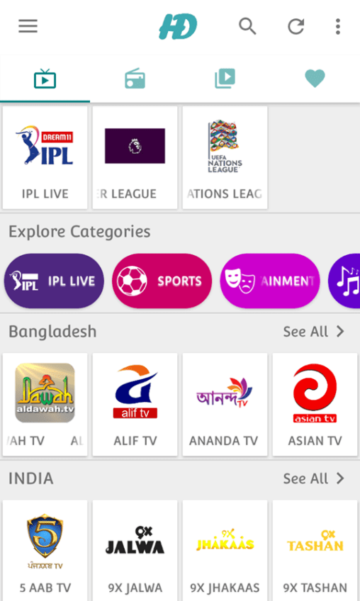 Download HD Streamz app and Watch IPL 2020.